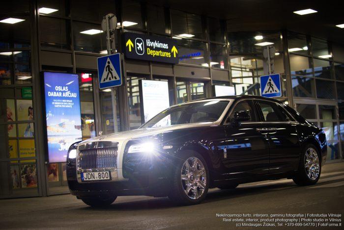 Autobomibiliu fotografavimas, Rolls Royce, Vilnius.