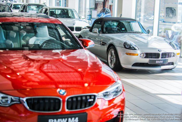 BMW salonas Vilniuje. Interjero fotografija. Fotoforma.lt