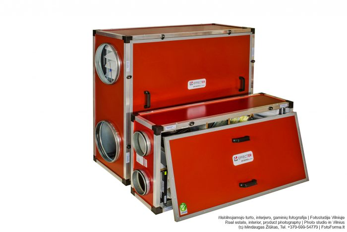 Rekuperatorių, ventiliatorių, inžinerinių sistemų nuotraukos. Fotoforma.lt
